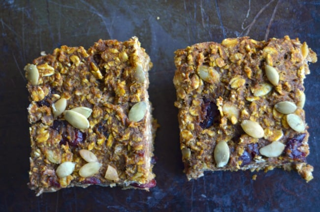 double pumpkin cran bars