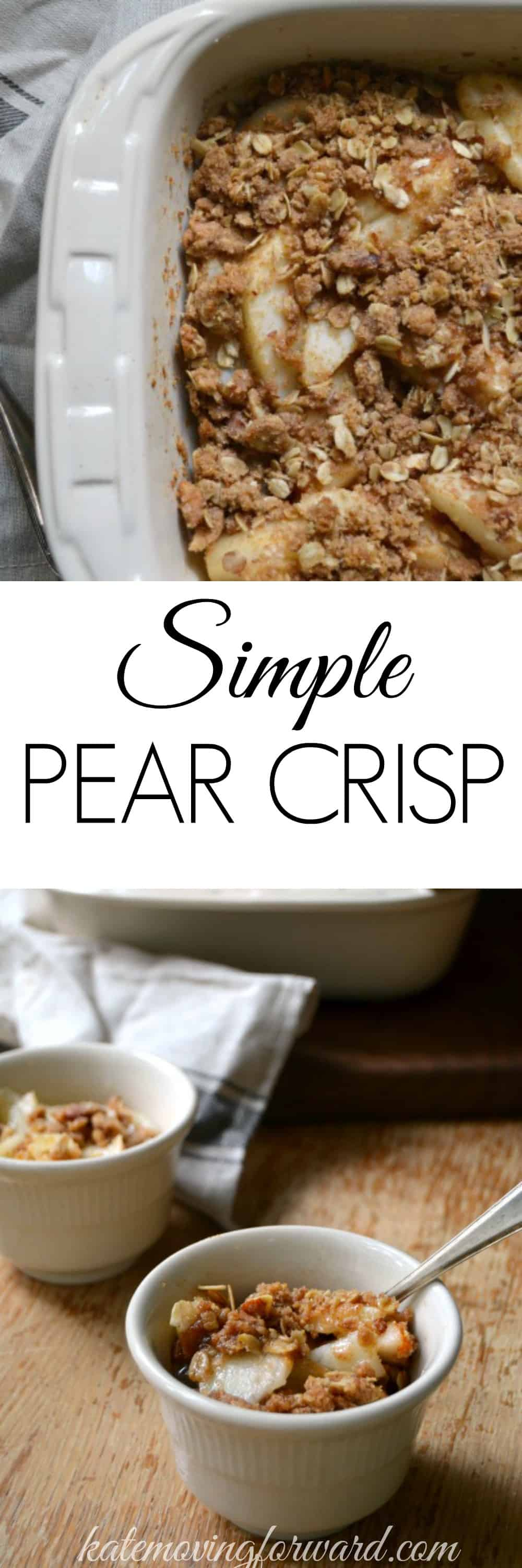 Simple Pear Crisp - A healthy, delicious, and EASY fall dessert recipe!! So crazy-good!