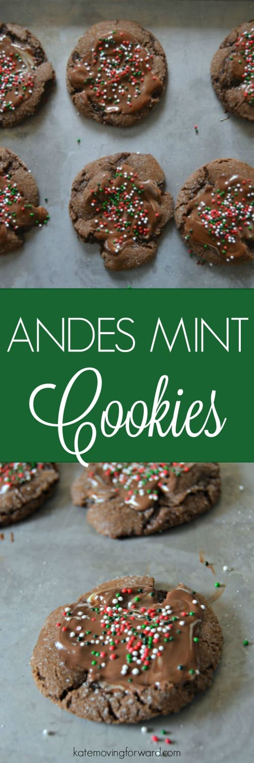 These Andes Mint Cookies are fudgy and rich, have sweet coating of sugar, and of course the swirl of melted andes mint. You'll love these Christmas cookies! They are one of my favorites!!