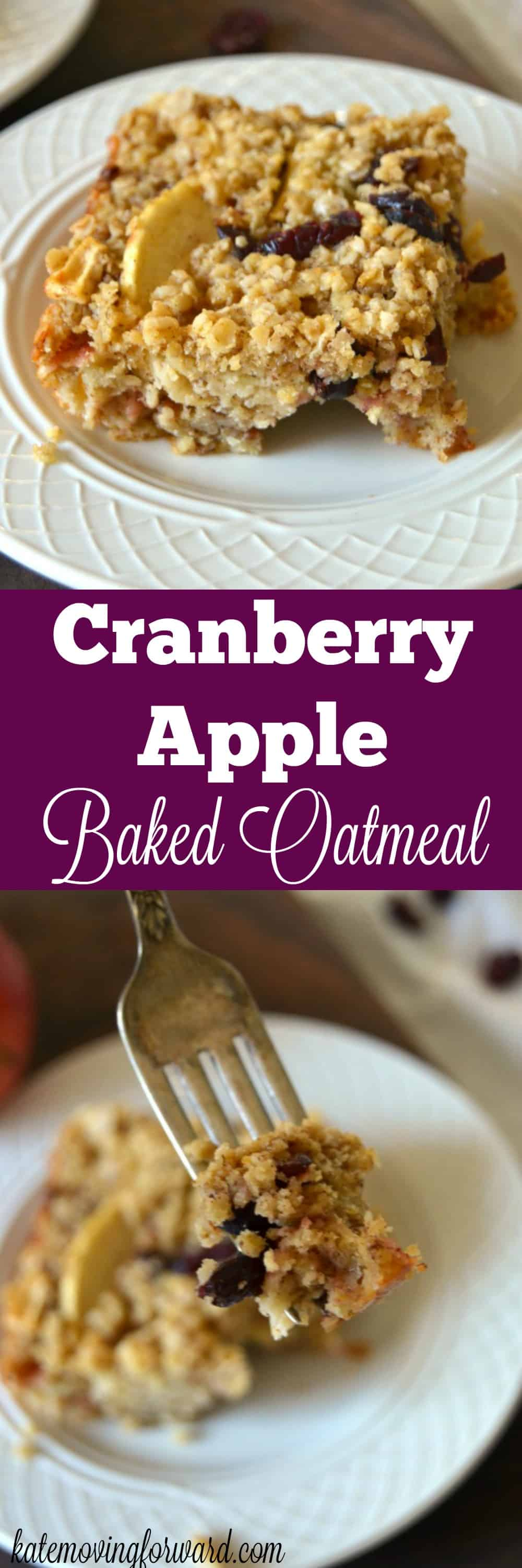Enjoy the sweet flavor of Apple Cranberry Baked Oatmeal for breakfast this holiday season! Simple, healthy and delicious!