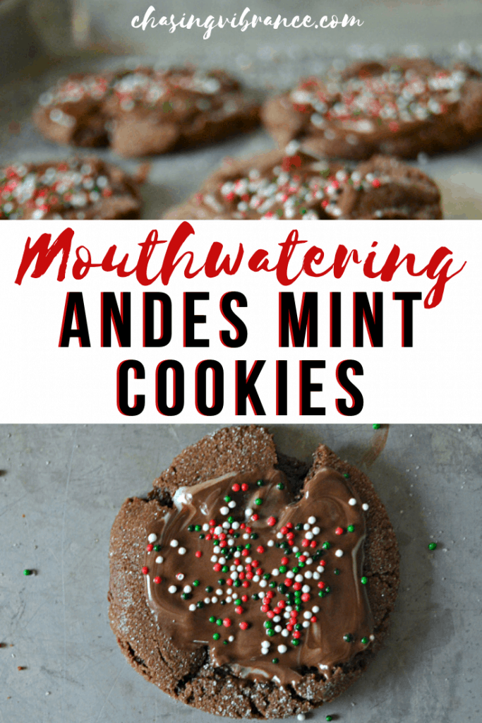 Mouthwatering Andes Mint cookie collage for pinterest