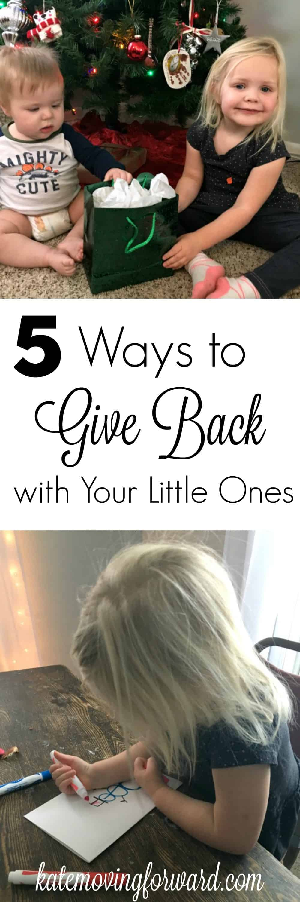 5 Ways to Give Back with Your Little One - Fun and practical ideas to teach your toddlers and preschoolers about giving and kindness at Christmas!