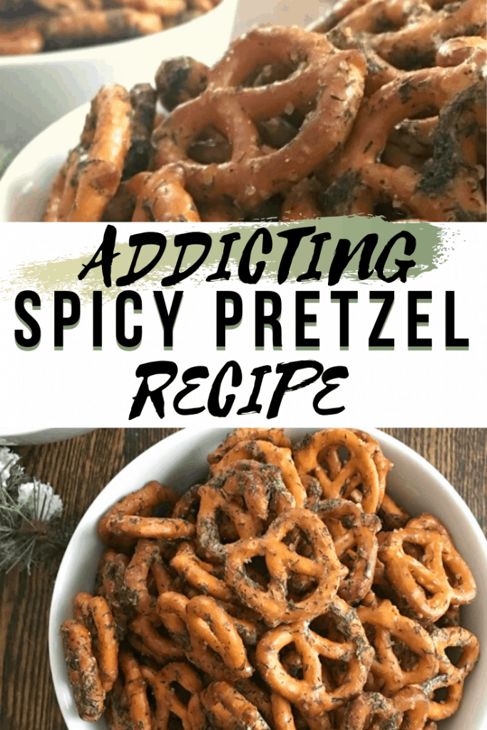 Addicting spicy pretzel recipe for pinterest