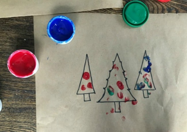 Fingerpainting Christmas