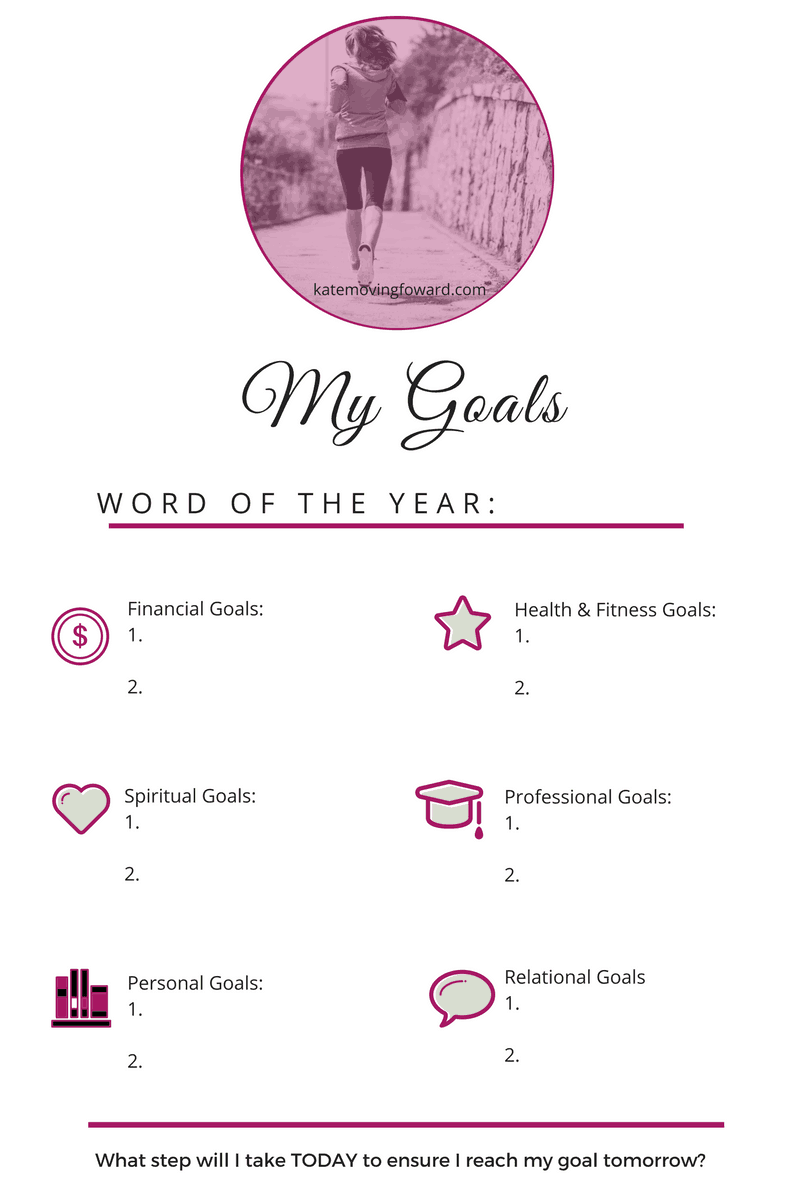 2017 Goal Planning Sheet - Perfect for planning goals and resolutions for the new year!