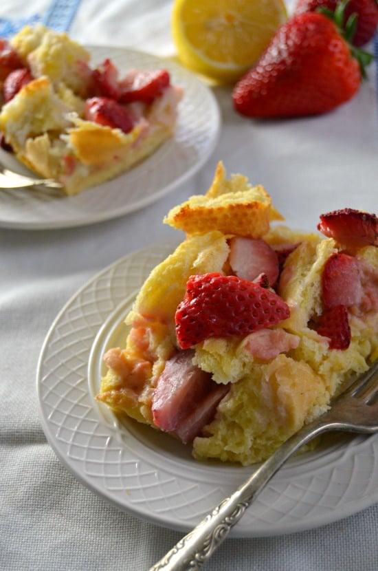 Baked Strawberry Lemon French Toast Casserole