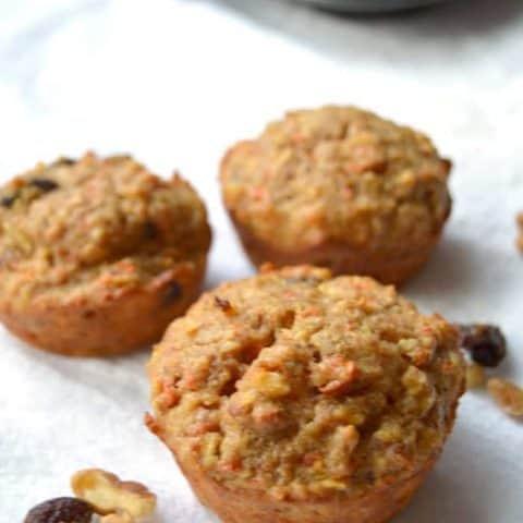 Sunrise Muffins - Healthy Muffins - Morning Glory Muffins - Carrot Cake Muffins - Muffin Recipes
