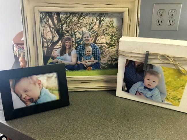 photos on counter