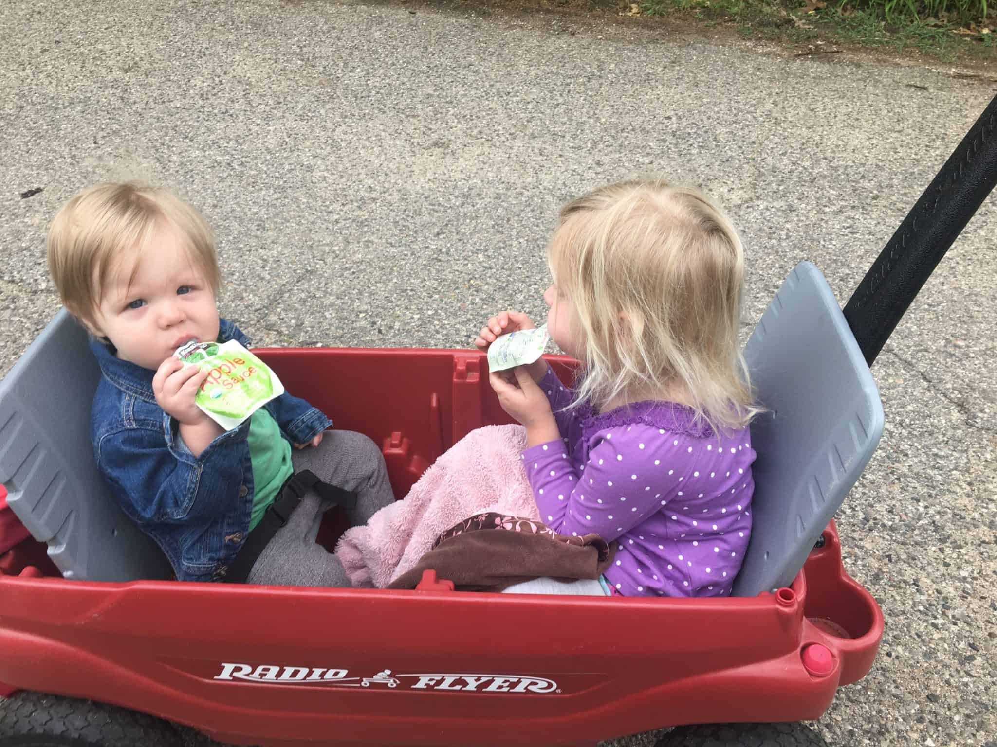 kids in the wagon
