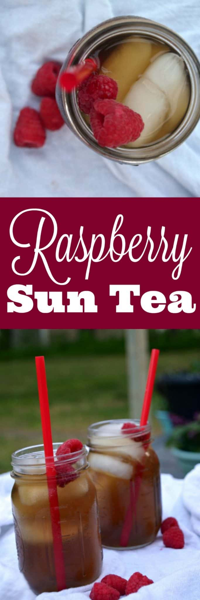 Raspberry Sun Tea - Iced Tea Recipe - Raspberry Unsweet Tea - Raspberry Sweet Tea -Iced Tea Recipe Easy - Raspberry Iced Tea