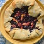 Rustic Dairy-Free Peach Blueberry Tart