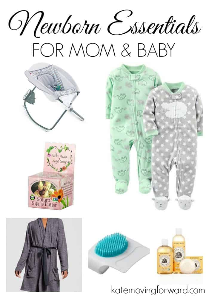my newborn essentials - great list of things to have on hand after baby is born! #newmom #newborn