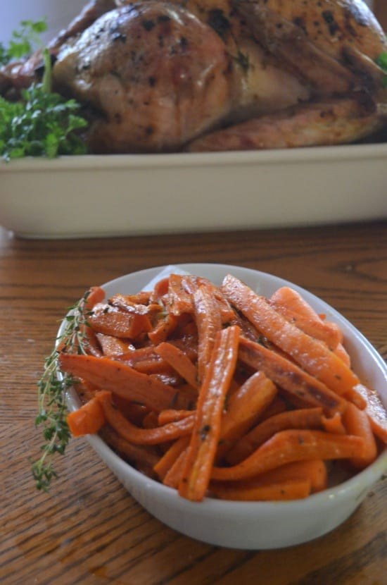 thanksgiving roasted carrots