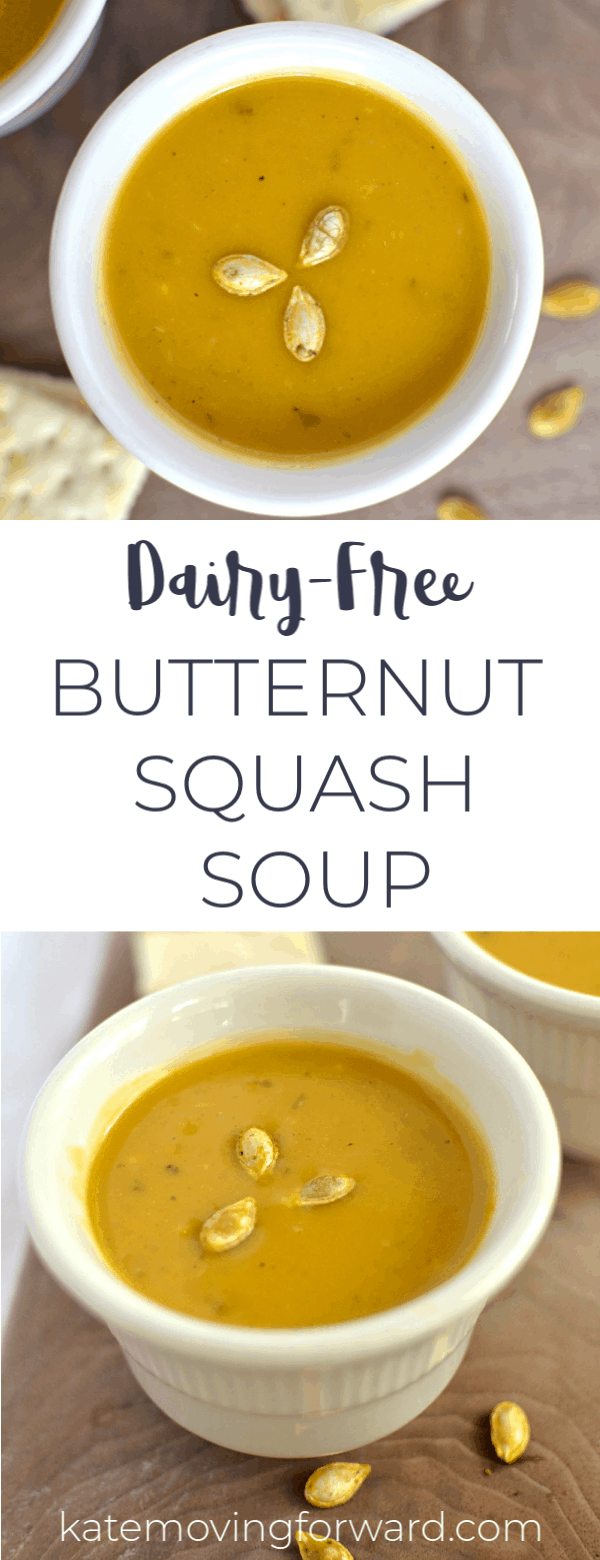Dairy-Free Butternut Squash Soup - Delicious, creamy and savory!
