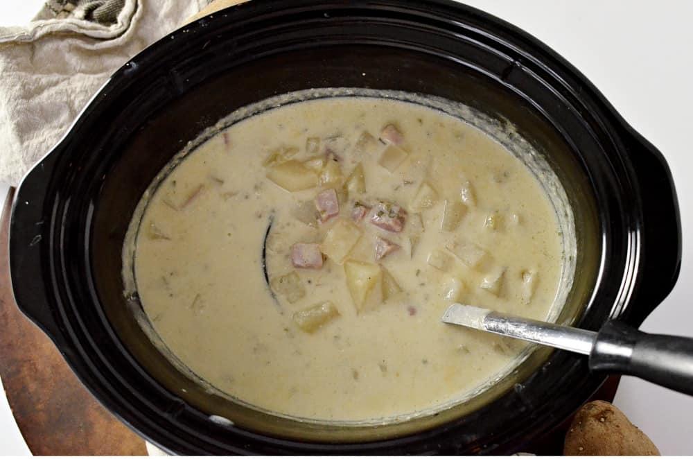 Potato soup in crock pot