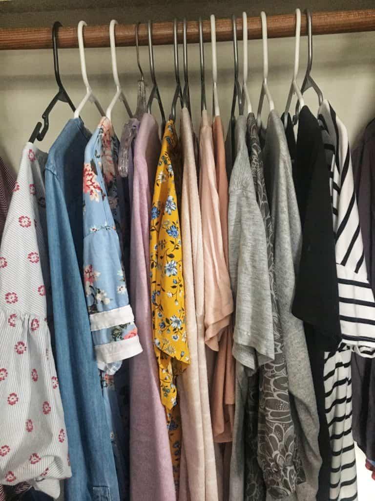 spring capsule wardrobe tops