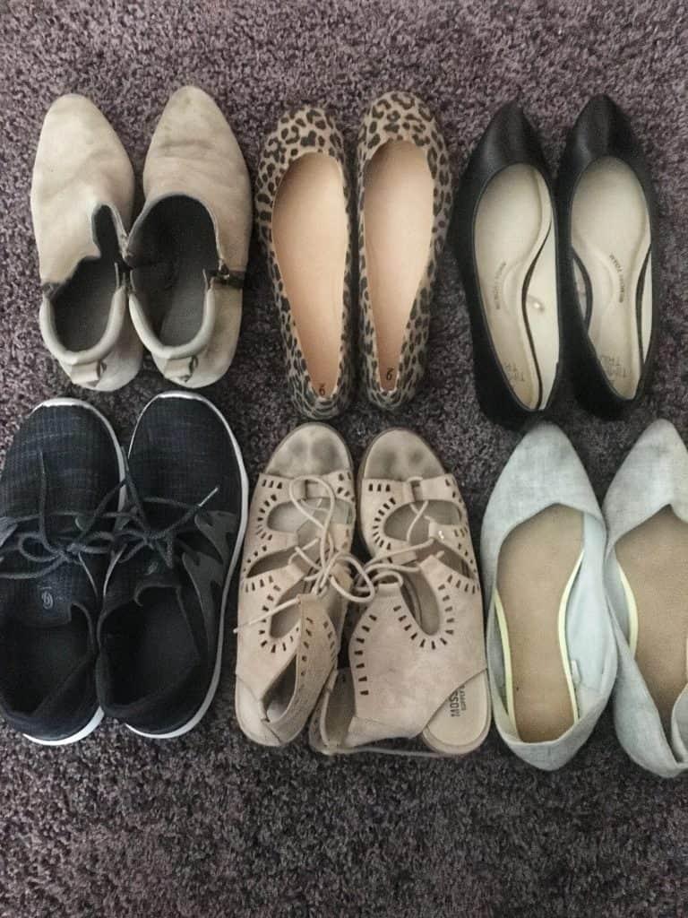 spring capsule wardrobe shoes