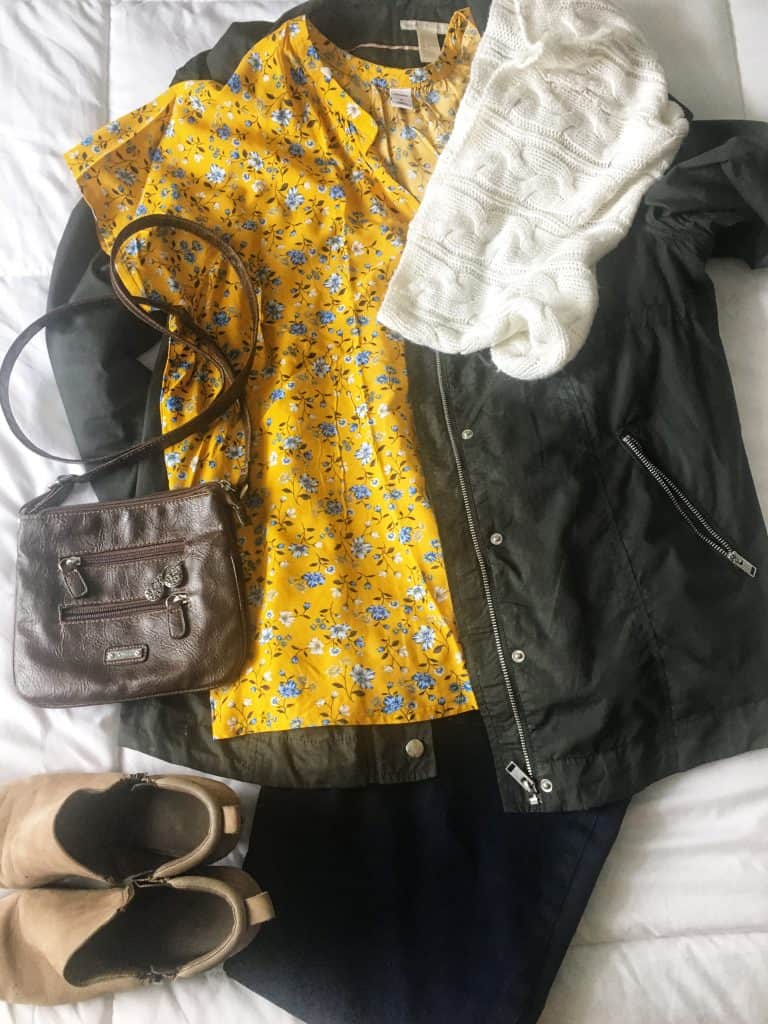 spring transitional outfit idea