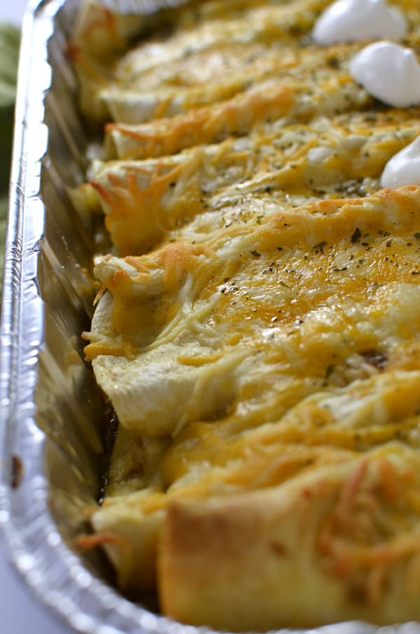 healthy chicken Enchiladas up close