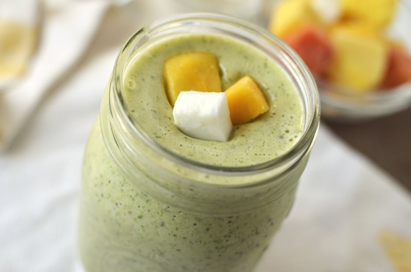 Tropical smoothie - healthy smoothies for breakfast