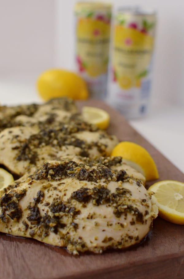 Sanpellegrino lemon pesto chicken breast