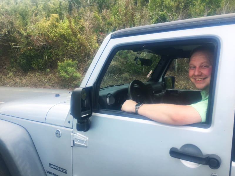 Driving jeep in usvi