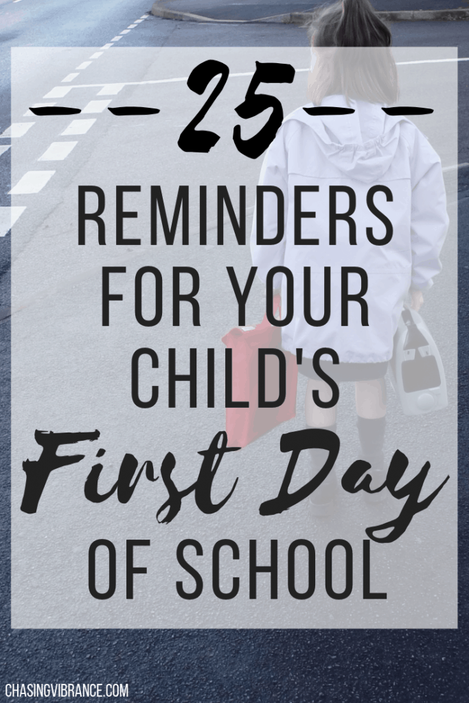 25 reminders for your child's first day of school
