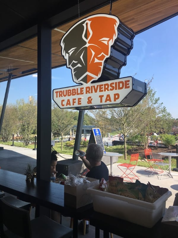 photo of sign for trubble brewing riverside fort wayne