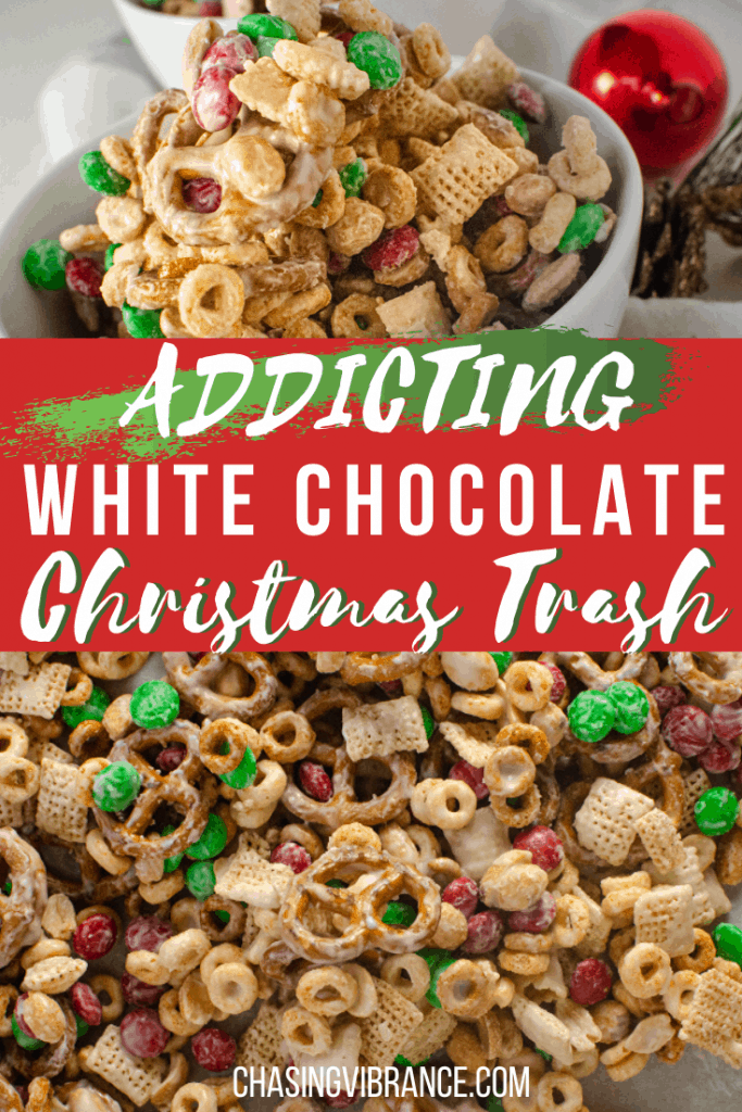 Addicting White Chocolate Christmas Trash Snack Recipe -