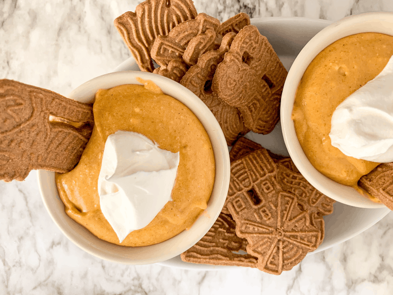 This super easy and almost irresistible pumpkin dip with cream cheese is sure to be a hit at your next holiday gathering! I love this pumpkin dip for an easy Christmas appetizer that has the perfect amount of sweetness and spice! #pumpkindipwithcreamcheese #pumpkincheesecakedip #pumpkindip #holidayappetizer