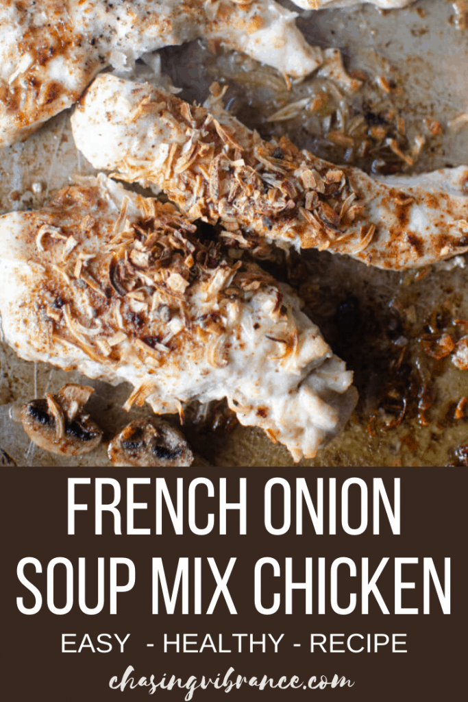 Photo of chicken with french onion soup mix overhead shot