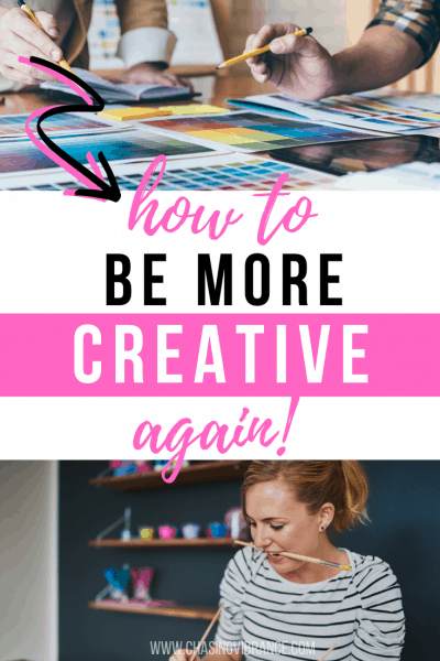 collage of women painting with how to be more creative again text overlay