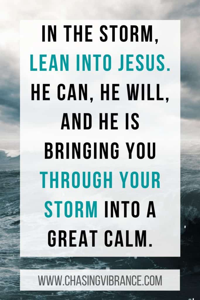 quote about leaning on jesus in challenging seasons