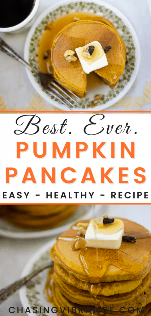 "large pin graphic with words ""best. ever. pumpkin pancakes"""