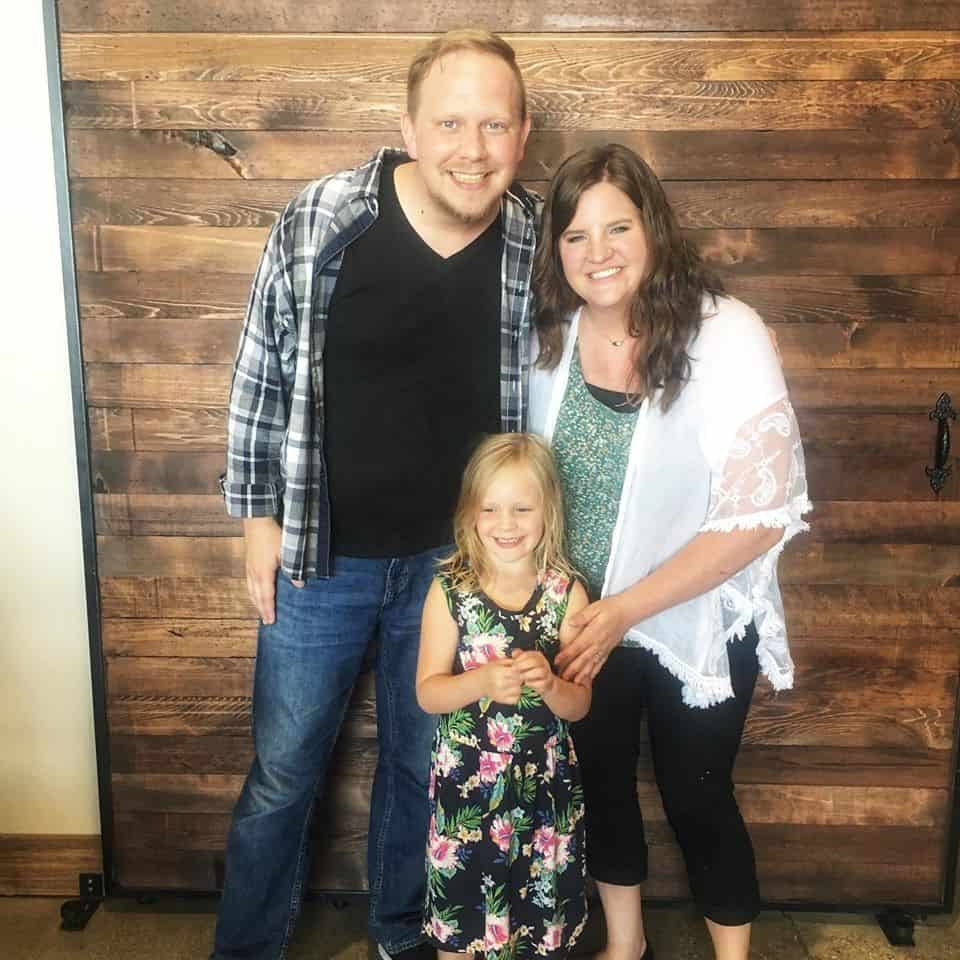 photo of family together at church