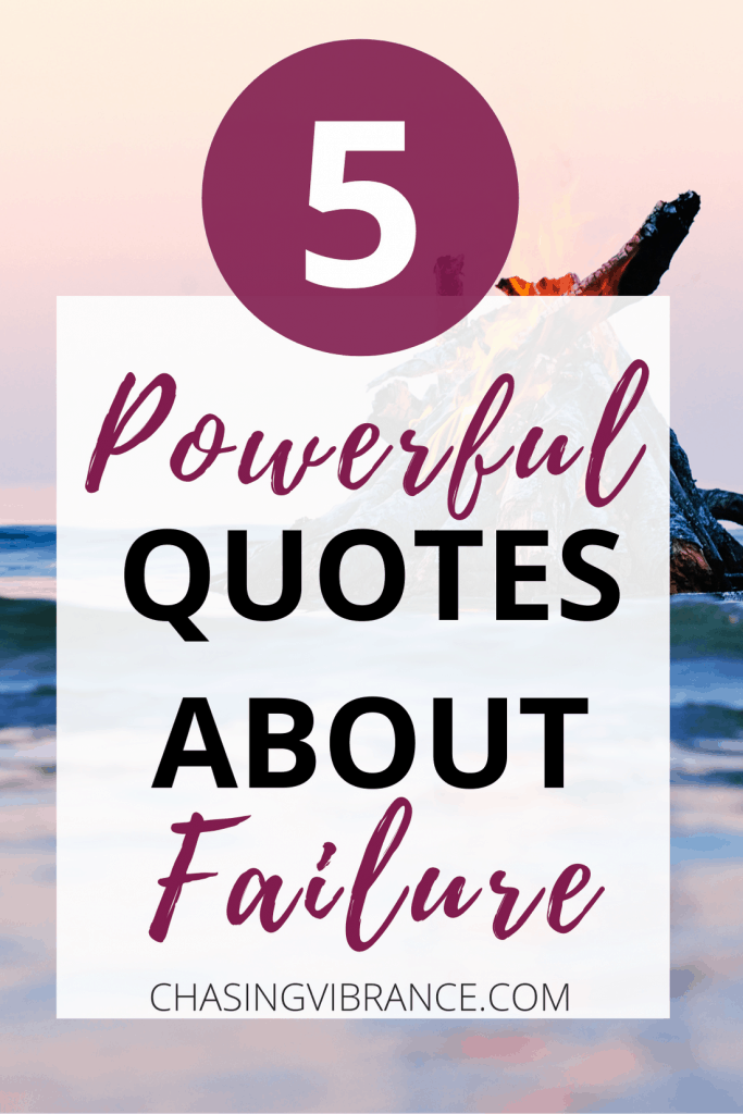 """pinterest image with text overlay """"5 powerful quotes about failure"""""""