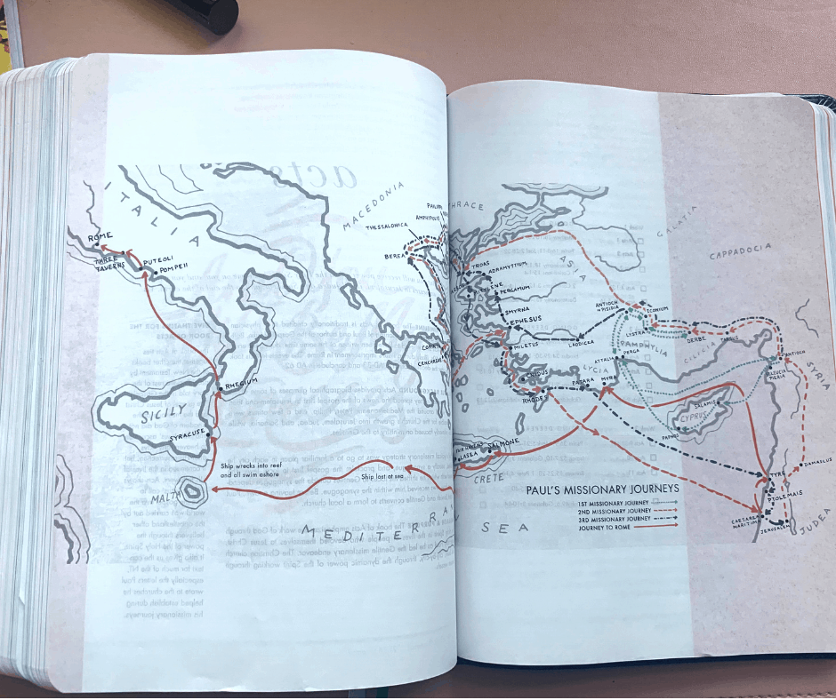 map of the early church in the she reads truth study bible